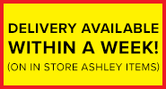 Delivery Available Within A Week (On In Store Ashley Items)